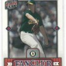 2002 Donruss Fan Club Credits Mark Mulder Oakland A's #D / 100