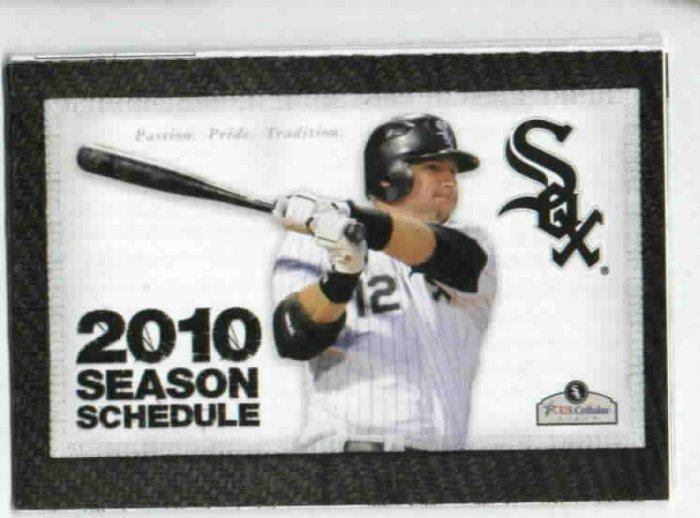 2010 Chicago White Sox Pocket Schedule