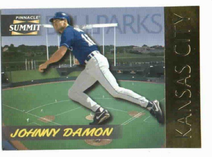 1996 Pinnacle Summit Ballparks Johnny Damon Kansas City Royals #d / 8000