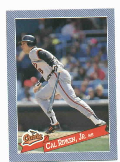 1993 Hostess Baseballs Cal Ripken Jr. Baltimore Orioles Baseball Card Oddball