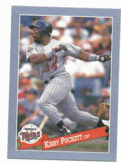 1993 Hostess Baseballs Kirby Puckett Baseball Card Minnesota Twins Oddball