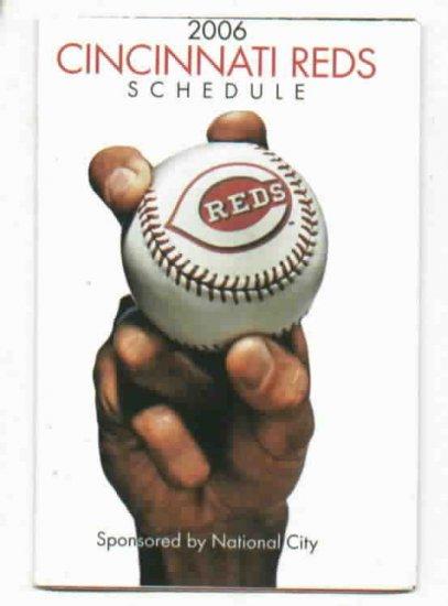 2006 Cincinnati Reds Pocket Schedule