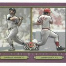 2002 Fleer Fall Classics All Time Series Thurman Munson Johnny Bench Yankees Reds