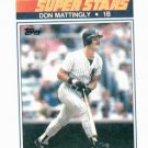 1990 Topps Kmart Superstars Don Mattingly New York Yankees Oddball