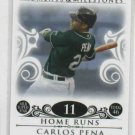 2008 Topps Moments & Milestones Carlos Pena 11 Home Runs Tampa Bay Rays #D 114/150