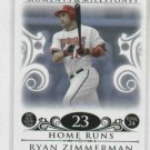 2008 Topps Moments & Milestones Ryan Zimmerman Philidelphia Phillies #D 39/150