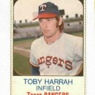 1975 Hostess Toby Harrah Texas Rangers NICE # 14