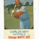 1975 Hostess Carlos May Chicago White Sox # 44 Nice