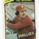 1980 Topps Mike Schmidt Philidelphia Phillies