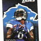 2010 Detroit Lions Pocket Schedule Calvin Johnson