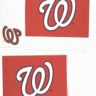 Group Of 3 Washington Nationals Stickers
