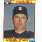 1986 Quaker Chewey Granola Nolan Ryan Baseball Card Houston Astros Rangers Oddball
