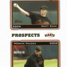 2005 Topps Matt Cain ROOKIE San Francisco Giants
