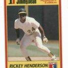 1991 Jimmy Dean Rickey Henderson Baseball Card Oddball Oakland A's