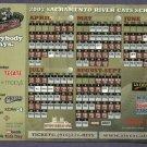 2007 Sacramento River Cats Magnet Schedule