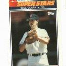 1990 Kmart Super Stars Will Clark Oddball San Francisco Giants
