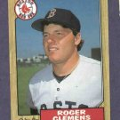 1987 O Pee Chee Roger Clemens Boston Red Sox 4 SHARP CORNERS