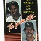 1985 Donruss Don Mattingly Dave Winfield New York Yankees