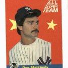 1986 Fleer All Star Don Mattingly New York Yankees