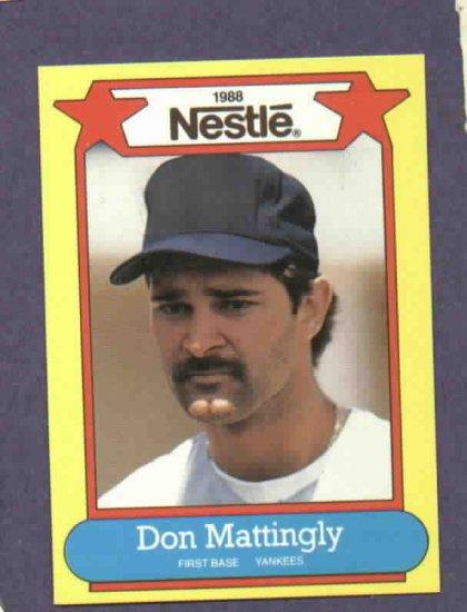 1988 Nestle Don Mattingly Oddball Baseball Card New York