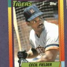 1990 Topps Traded Cecil Fielder Detroit Tigers