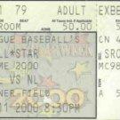 2000 MLB All Star Game Full Ticket Turner Field Jeter MVP Chipper Jones HR