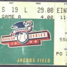1998 American League Division Series Ticket Cleveland Indians Jacobs Field