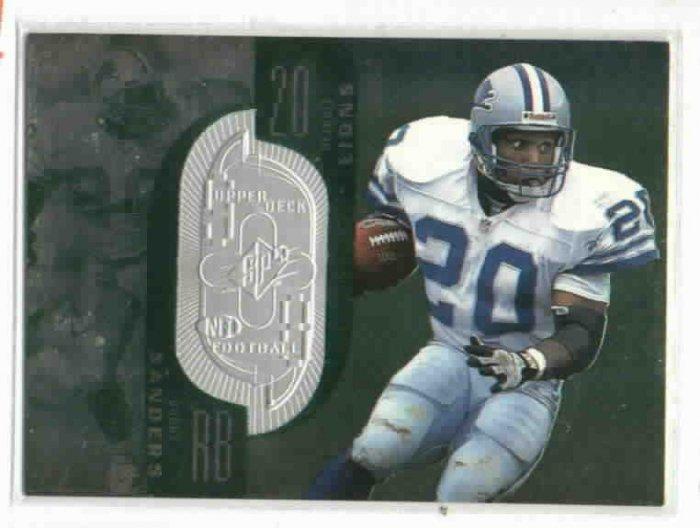 1998 Upper Deck SPX Barry Sanders #D/ 7600 Detroit Lions HOF