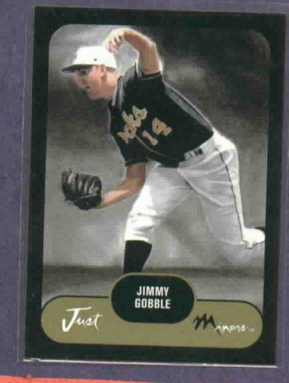 2002 Just Minors Prospects Jimmy Gobble Kansas City Royals #D/ 50 Rookie