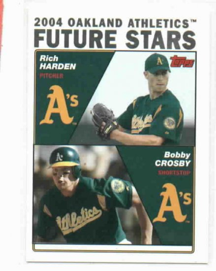 2004 Topps Rich Harden Bobby Crosby Rookie Oakland A's