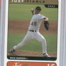 2002 Just Minors Rich Harden Oakland A's Rookie