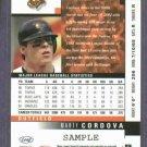 2003 Leaf Marty Cordova Baltimore Orioles Beckett Silver Sample