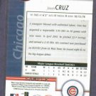 2002 Leaf Certified Juan Cruz Chicago Cubs Beckett Silver Sample