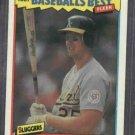 1987 Fleer Baseballs Best Sluggers Mark McGwire Rookie Oakland A's Cardinals