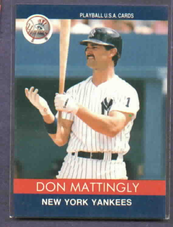 1991 Playball Don Mattingly Oddball Baseball Card New York