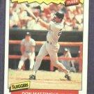 1986 Fleer Baseballs Best Sluggers Don Mattingly Oddball New York Yankees
