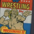 1987 Topps WWF Wrestling Cards Unopened Pack Hulk Hogan Wrestlemania