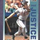 1992 Fleer The Performer Series Dave Justice Atlanta Braves Citgo 7-11 Oddball