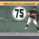 2003 Fleer Ex Behind The Numbers Barry Zito Oakland A's Jersey #D / 199