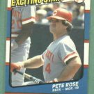 1987 Fleer Exciting Stars Pete Rose Cincinnati Reds Oddball