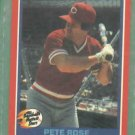 1987 Fleer Baseballs Hottest Stars Pete Rose Cincinnati Reds Oddball