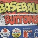 Unopened Pack 1984 Fun Foods Baseball Buttons Pins Pin Back Oddball