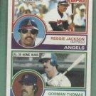 1983 Topps Leaders Reggie Jackson Gorman Thomas Blank Back Oddball