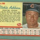 1962 Post Richie Ashburn Chicago Cubs #186