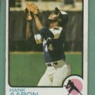 1973 Topps Hank Aaron Atlanta Braves #100