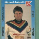1991 Kmart Michael Andretti Racing Collector Card