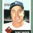 2011 Topps The Lost Cards 1953 Duke Snider Brooklyn Dodgers Insert