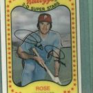 1981 Kelloggs Pete Rose Philidelphia Phillies # 63 No Cracks Oddball