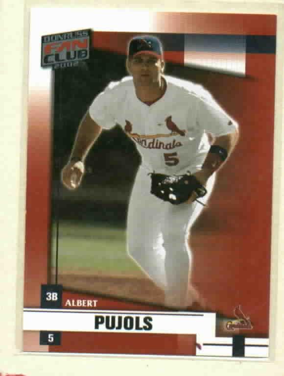 2002 Donruss Fan Club Albert Pujols St Louis Cardinals # 40