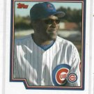 2003 Topps Dusty Baker ERROR Chicago Cubs No Writing On Front # 272